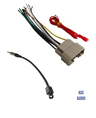 61Yw1IhUQ3L._SY450_ amazon com asc audio car stereo wire harness and antenna adapter how to install wire harness car stereo at bakdesigns.co