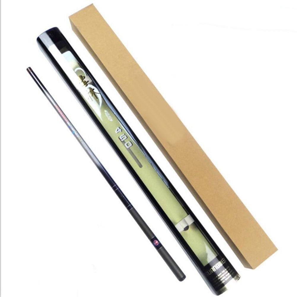 LZH Rod telescopico di pesca della fibra del carbonio Rod di pesca del filetto di carpa Ultra Light Spinning Fishing Rod 3.6-7.2Meter