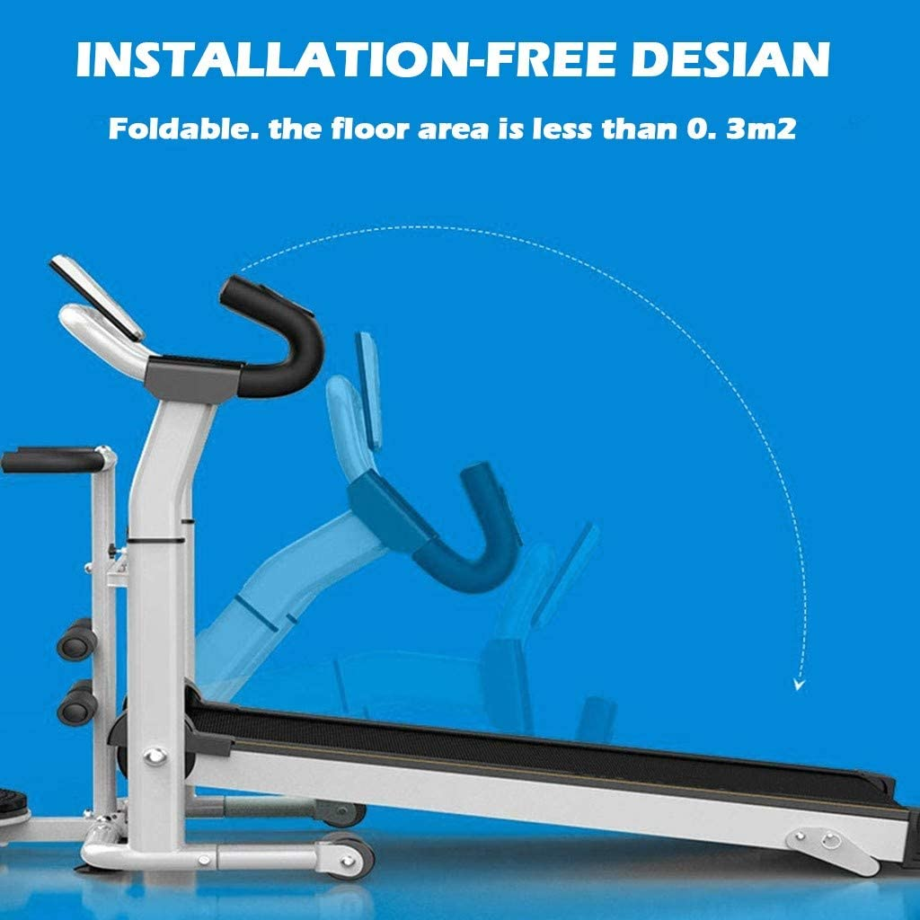 GraPefruiT Mechanical Treadmill Household Model Walker Multi-Functional Folding Home Convenient Treadmill 121X60X20cm.