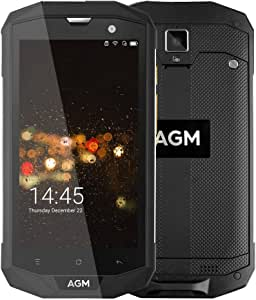 AGM A8 Smartphone Android 7.0 IP68 Impermeable Anti-Agua, Antí-Choques, Anti-Polvo Qualcomm Snapdragon 410 Quad Core 3GB RAM 32GB ROM 5,0 Pulgadas, Batería 4050mAh Cámara 13MP & 2MP NFC OTG, Negro: Amazon.es: Electrónica