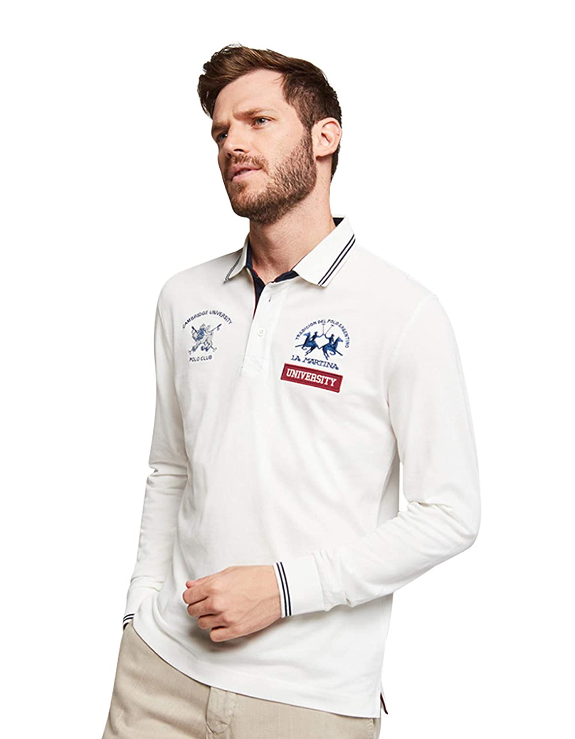 La Martina - Polo - Chaqueta - para Hombre Blanco L: Amazon.es ...