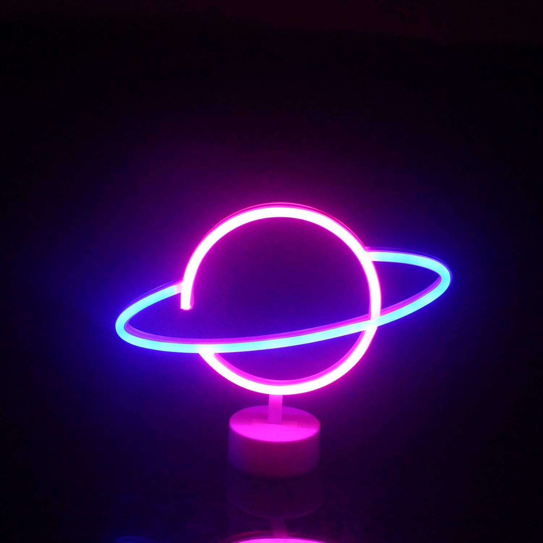 Insegne al neon dellalbero di cocco con luci al neon a led di base Palma USB batteria lampada Decorazioni per la stanza Negozio Design Vacanze estive Beach Celebration Party Supply