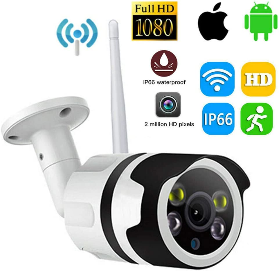 Jumowa - Cámara de vigilancia WiFi, cámara IP Pan/Tilt, Sensor de ...