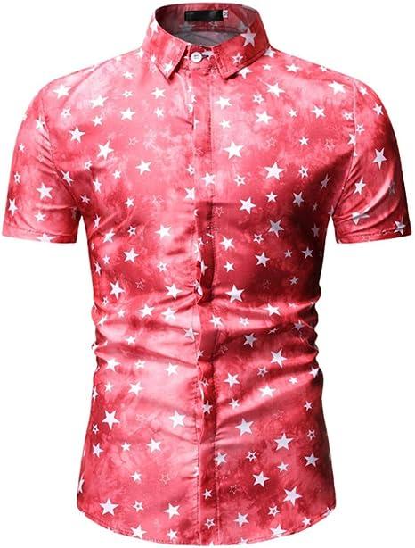 CHENS Camisa/Casual/Unisex/XL Camisa de Verano para Hombre Tallas Grandes Casual Slim Fit Camisa de Moda de Solapa de Manga Corta Top Blusa Ropa: Amazon.es: Deportes y aire libre