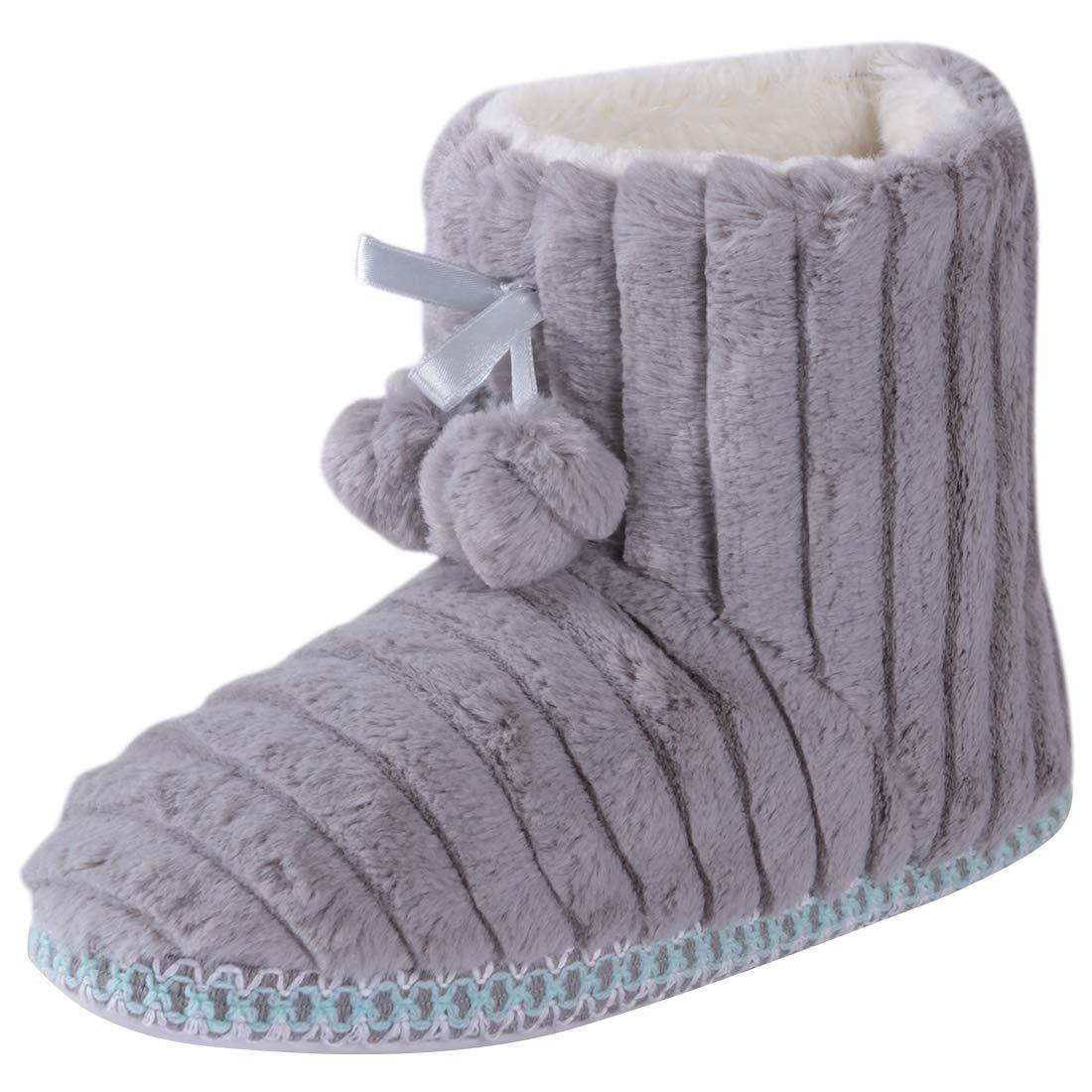 12dbf34581d6 Forfoot Women s Cozy Fleece House Indoor Slipper Boots  Amazon.ca  Shoes    Handbags