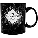 Silver Buffalo HP1034HB Harry Potter and the Prisoner of Azkaban Marauder's Map Heat Reveal Ceramic Mug, 20 oz