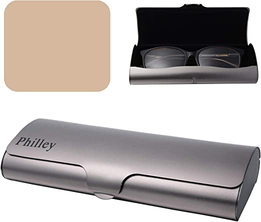 Philley Sunglasses Case Striped Aluminum Hard Shell Metal Spectacles Box Eyeglasses Case