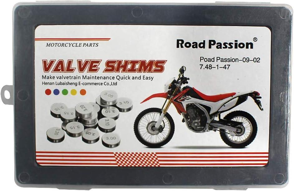 1 pc per size Road Passion 7.48mm Pastiglie Valvola Kit Regolazione del Gioco alle Valvole 1.20mm-3.50mm 1x47 pcs per Honda CBR900RR 1993-1999 CBR929RR 2000-2001 CBR954RR 2002-2003
