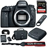 Canon (1897C002) EOS 6D Mark II 26.2MP Full-Frame DSLR Camera Body w/ Canon Connect Station 1TB Storage Hub + Sandisk SDXC 128GB Memory Card + Wireless Remote Control + DSLR Camera Bag