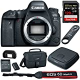 Canon (1897C002) EOS 6D Mark II 26.2MP Full-Frame DSLR Camera Body w/ Canon Connect Station 1TB Storage Hub + Sandisk SDXC 128GB Memory Card + Wireless Remote Control + DSLR Camera Bag