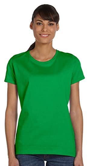 87f16696 Fruit of the Loom womens 5 oz. 100% Heavy Cotton HD T-Shirt(L3930R) at  Amazon Women's Clothing store: