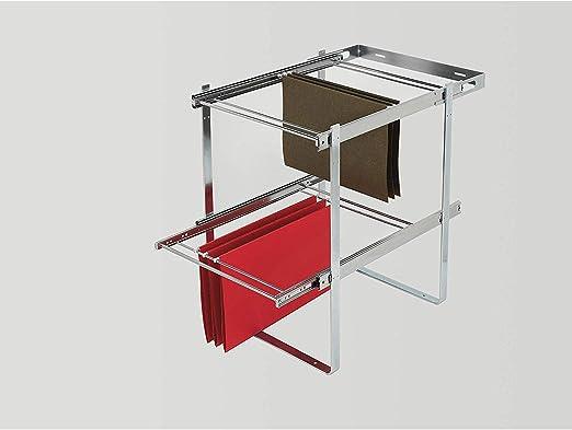 Rev A Shelf Ras Fd Kit 2 Tier Base Cabinet File Drawer Organizer System Chrome Amazon Ca Home Kitchen