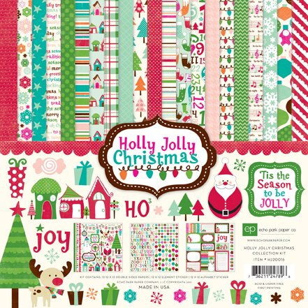 (Echo Park - Holly Jolly Christmas Scrapbooking Collection Kit - Item #:HJ20016TM - Copyright 2011)