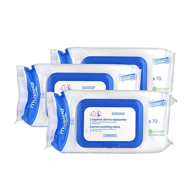 Mustela Dermo-soothing Wipes Delicately Fragranced 210 Wipes: Amazon.es: Belleza