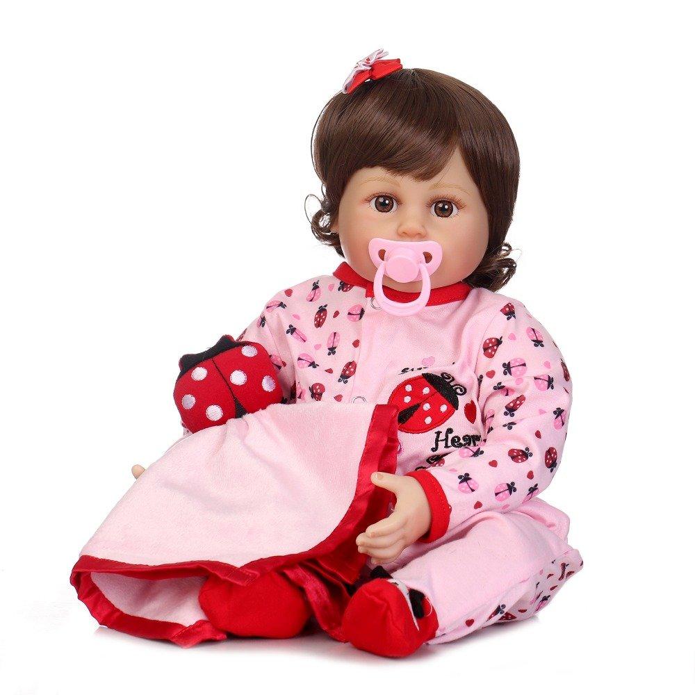 ピンキーReborn幼児用22インチ55 cm人形Reborn Baby Girl Realistic Looking Aliveソフトベビー人形ビニールシリコン赤ちゃんクリスマスギフト   B07DL24JMB