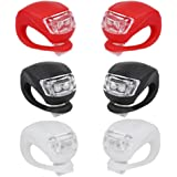 Bike Bicycle Lights Front and Rear, Silicone Led Bike Light Set for Night Riding,6 Pack,waterproof Headlight & Taillight for Cycling Safety