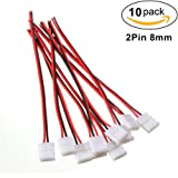 LightingWill 10pcs Pack Strip Wire Solderless Snap Down 2Pin Conductor LED Strip Connector for 8mm Wide 3528 2835 Single Color Flex LED Strips 8MM-2PCWB