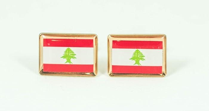afeaffd151ab Amazon.com: Lebanese Flag Cufflinks: Handmade