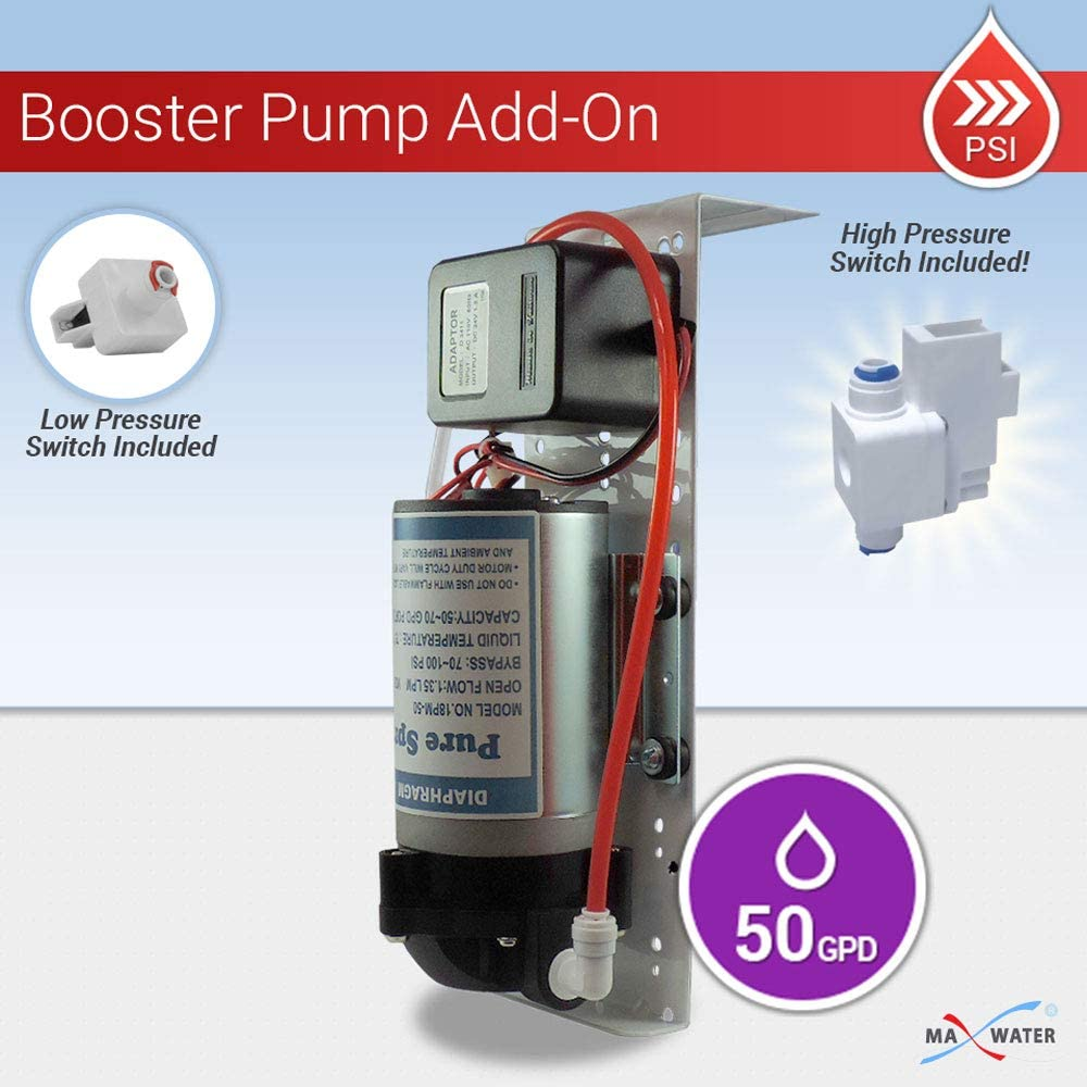 Max Water 105715 Reverse Osmosis Booster Pump