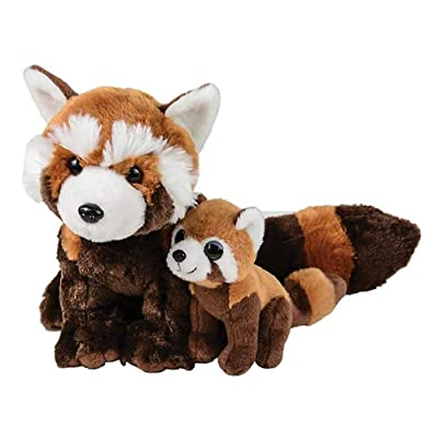 "Adventure Planet Birth of Life Red Panda with Baby Plush Toy 11"" H: Toys & Games"