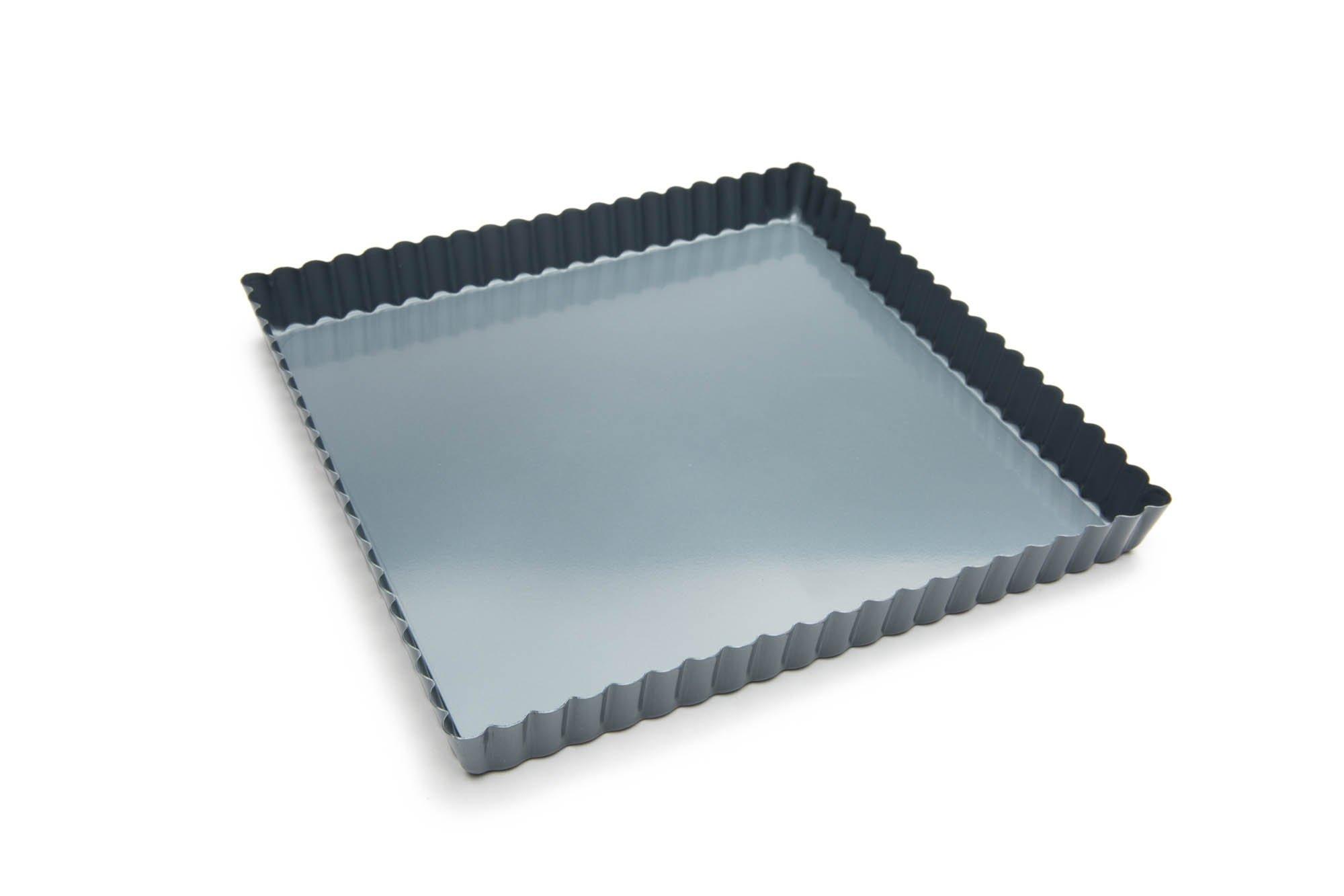 Fox Run 44910 Square Quiche Pan with Removable Bottom, Non-Stick, 9-Inch