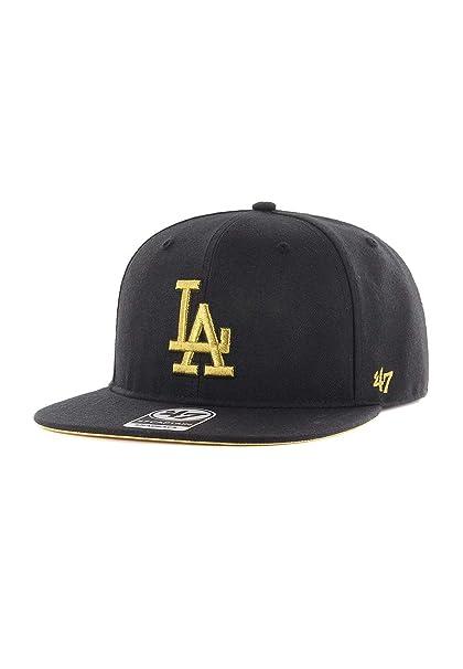 47 Gorra Brand MLB Los Angeles Dodgers Captain Snapback Negro OSFA ...