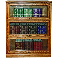 Forest Designs Traditional Lawyers Bookcase: 36W x 49H (Three Doors) x 13D 49h 3 doors Antique Alder