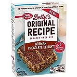 Betty Crocker Baking Mix, Original Recipe Scratch Cake Mix, German Chocolate Delight, 19.2 Oz Box