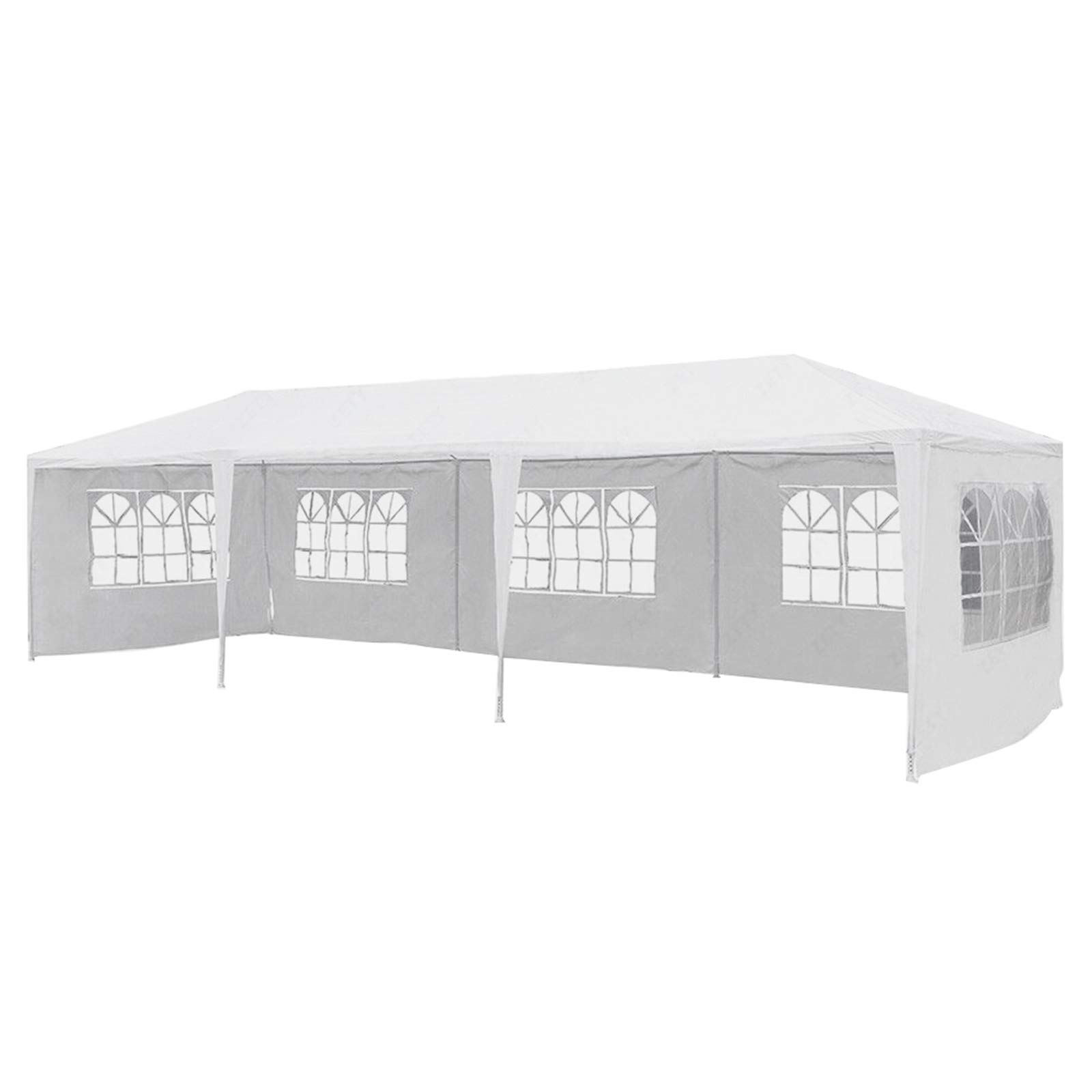 mecor 10'x30'Outdoor Canopy Party Event Wedding Tent with 5 Removable Sidewall 3 Rooms,Upgraded Stainless Steel Tube Waterproof Sun Shelter Canopy for Shows,Camping Etc