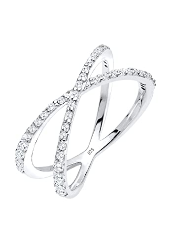 Elli Women's 925 Sterling Silver Xilion Cut Zircon Ring