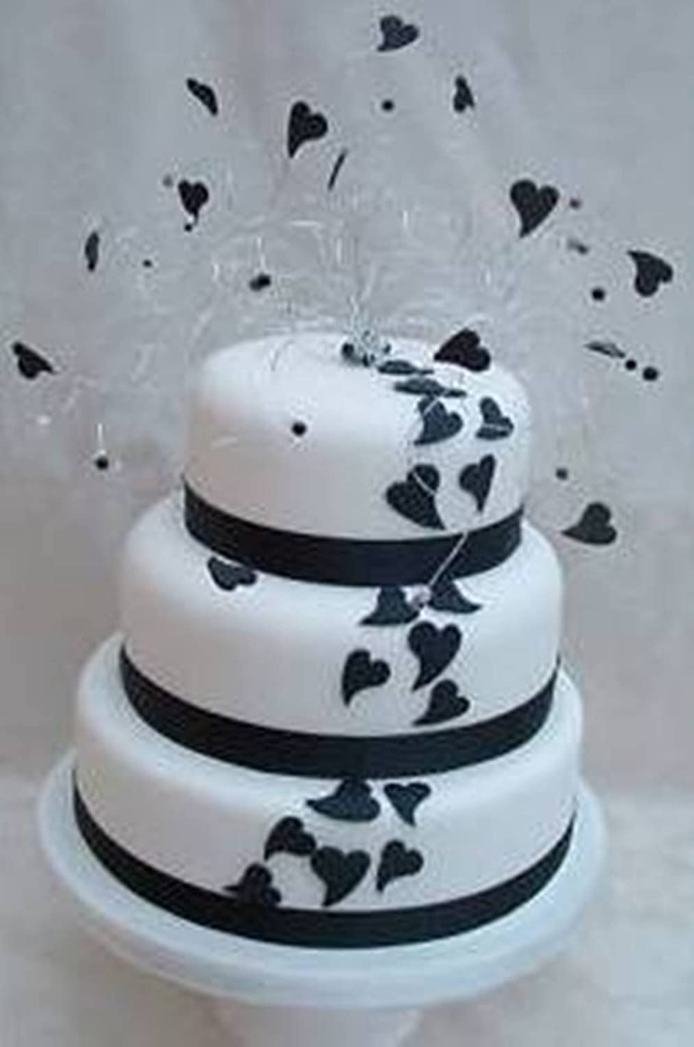 Black Heart Twisted Wire Wedding Engagement Cake Topper: Amazon.co ...