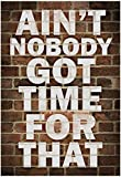 Aint Nobody got time For That Poster 13 x 19in