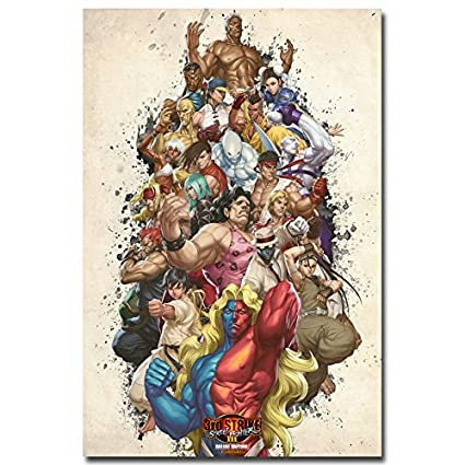 Amazon Com Lawrence Painting Street Fighter V Art Canvas