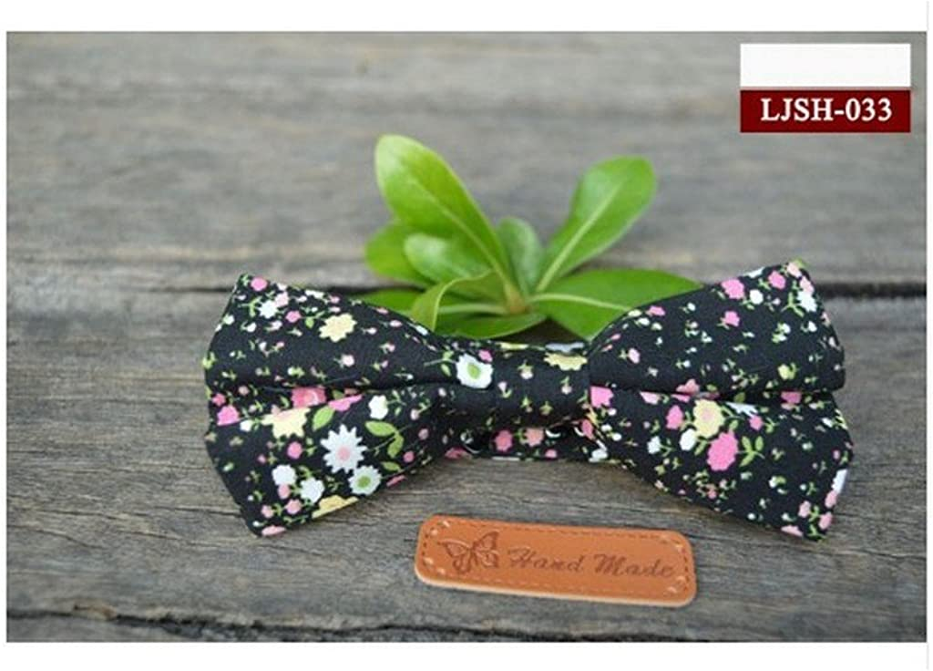 Fashion Korean Mens Bow Tie Floral Tie for Men