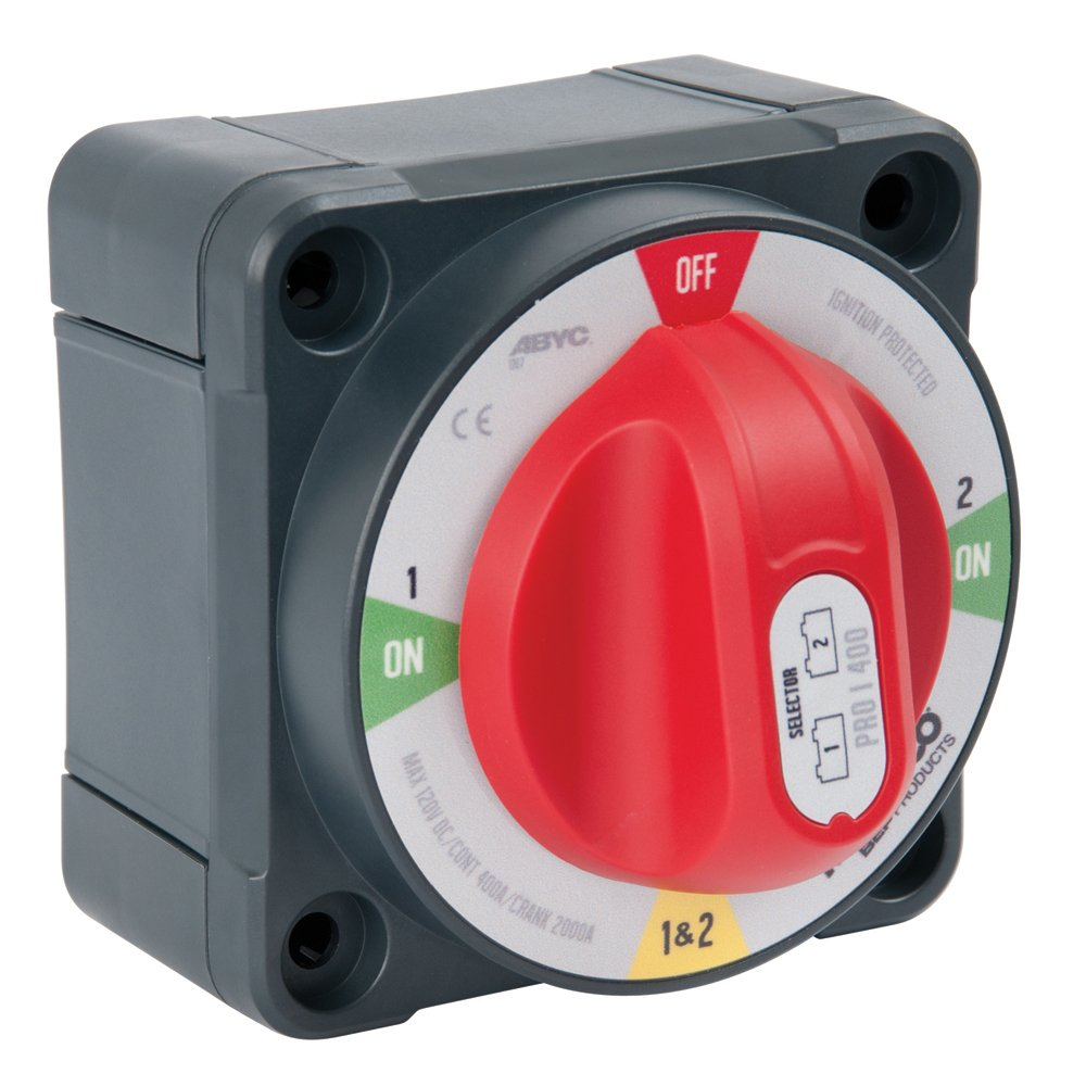 BEP Marinco Power Products Pro Installer Selector with Field Disconnect Battery Switch