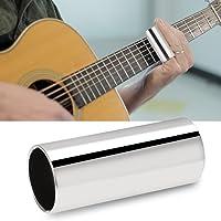 2pcs Guitar Slide Glass Slide y Acero Inoxidable Slide Set Instrumento de Cuerda Accesorio para Guitarra Bass 6CM