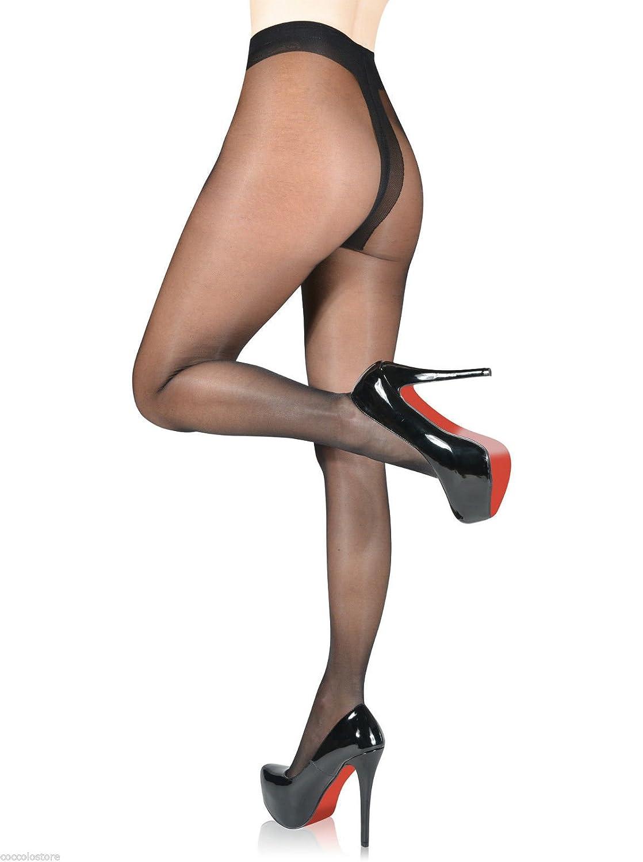 Fiore Idalia - Collant femme mode effet satin brillant nylon fin 20 den (2 3ddb9729ff0