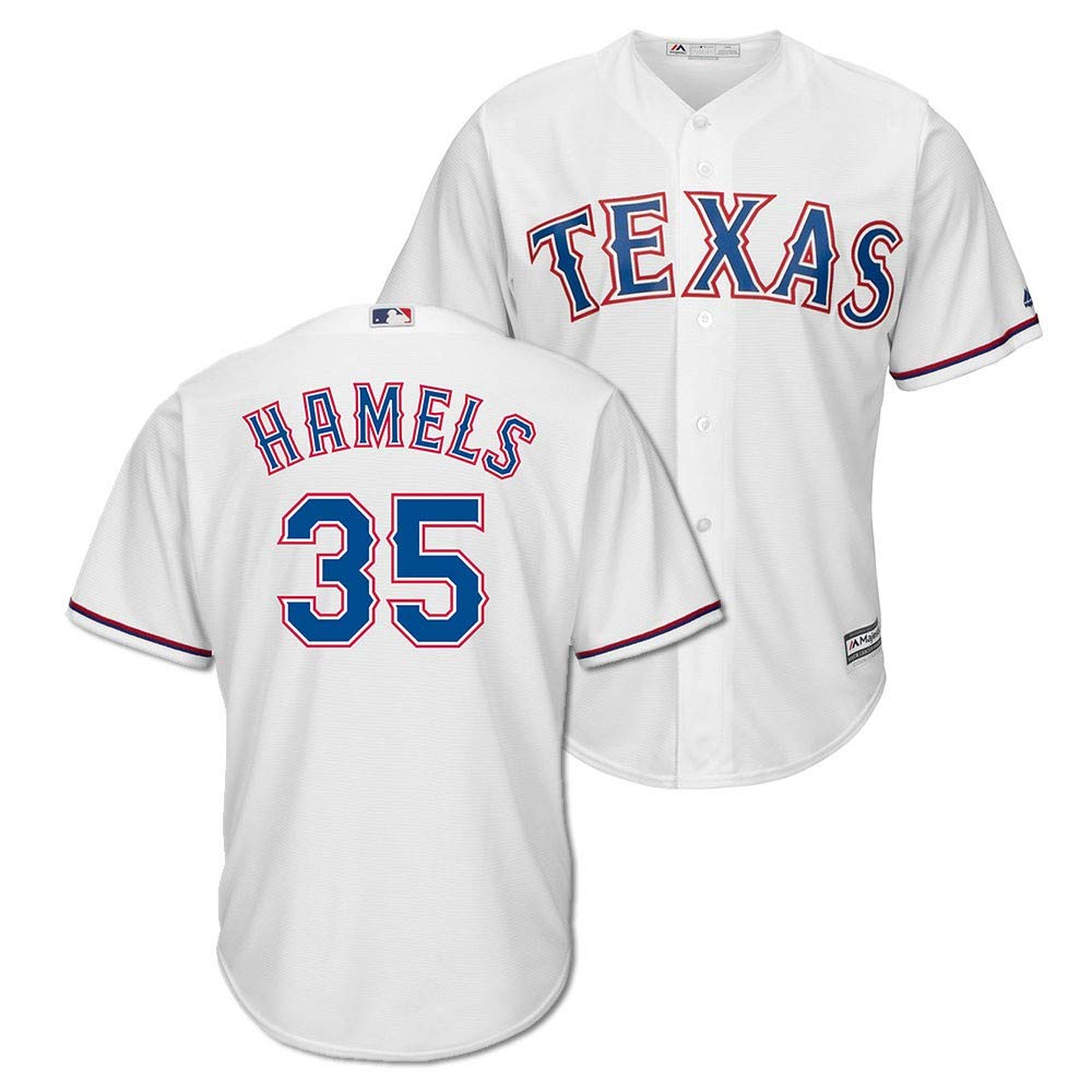 brand new 71149 5784f Amazon.com: Outerstuff Cole Hamels Texas Rangers White Youth ...