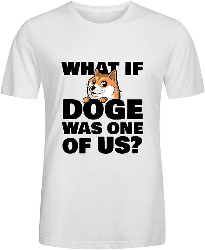 Lo Que Si Doge es uno de nosotros, los hombres de cuello redondo T camisas: Amazon.es: Ropa y accesorios