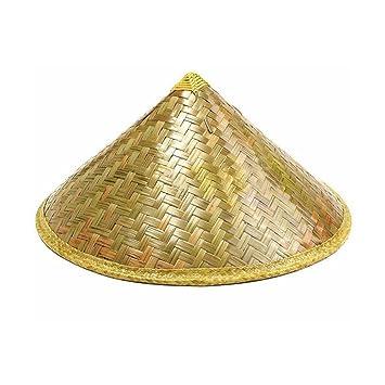 c8abcfb024d99 Su-luoyu Sombrero de paja pastoral oriental Sombrero de sol sombrero de  bambú sombrero de lluvia turístico sombrero de campesino cónico sombrero de  sol de ...