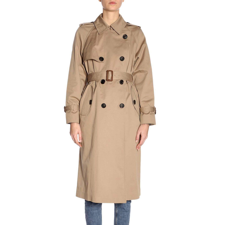 Miu Miu Women's MS1543472F0241 Beige Cotton Trench Coat