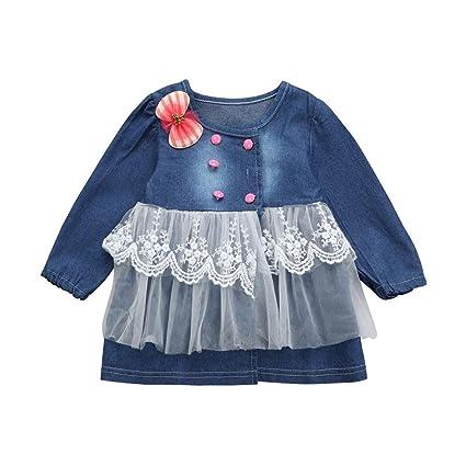 ❤️Ropa para niños bebés Conjunto, Tefamore Blusa de vestir de princesa falda de manga