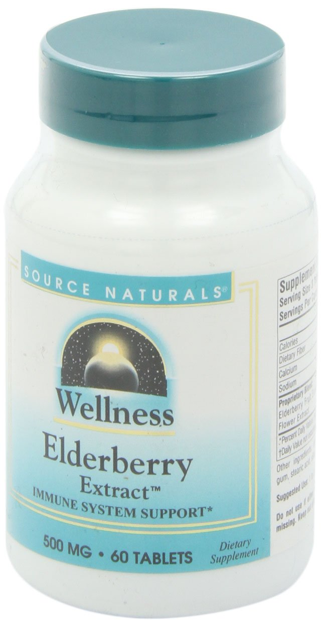 Source Naturals Wellness Elderberry Extract, Immune System Support 60 Tablets