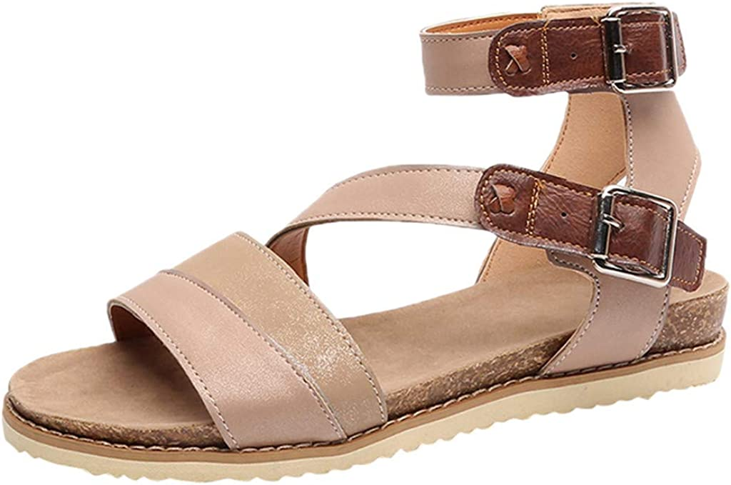 Womens Ladies Fashion Flat Cross Belt Buckle Beach Sandals Roman Shoes Frog Fun//Movers.Shakers