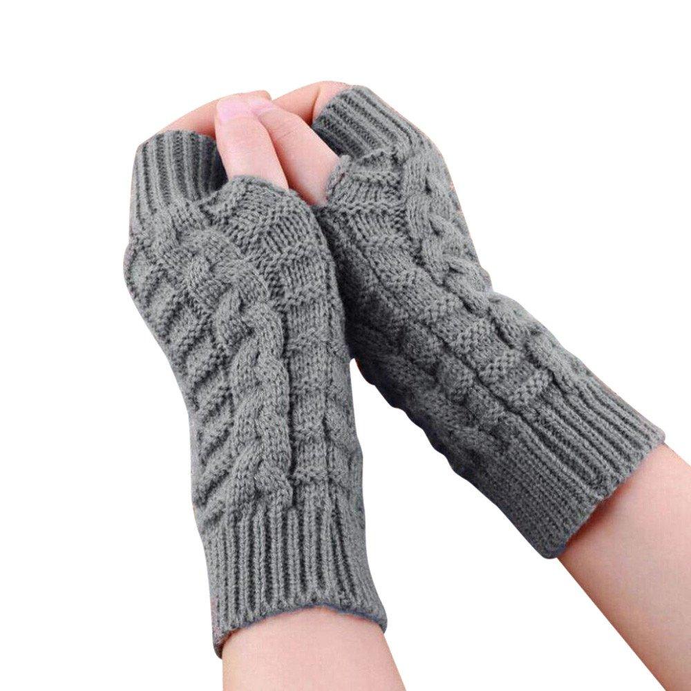 Moginp Mode Arm Fingerlose Gestrickte Winterhandschuhe Weiche Warme Fäustling Freesize) MOGDF5024