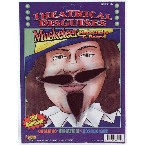 Musketeer Fake Moustache & -