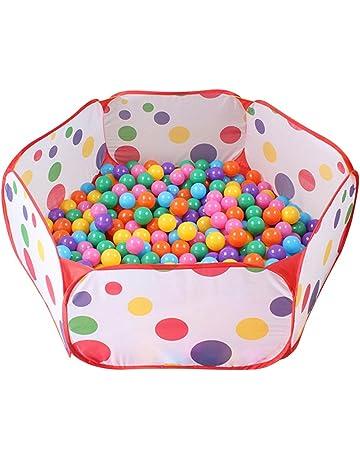 Newcomdigi Plegable Piscina de Bola de Juego Poliéster Piscina de Pelota Tienda de Juego para Niños