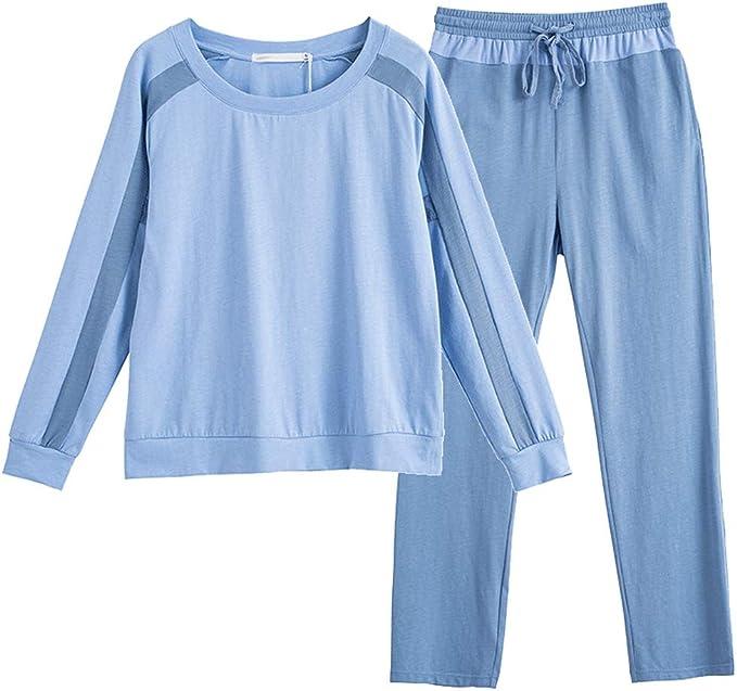 Pijama Pijamas De Manga Larga De Algodón For Mujer, De Primavera Y ...