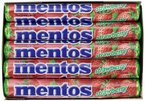 Mentos Roll - Strawberry, 1.32-Ounce (Pack of 15) by MENTOS [Foods] ()