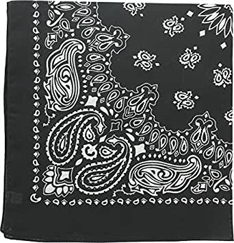"Military Army Trainmen Paisley Bandanas (Black - 22"")"